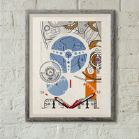 TAG Heuer Monaco No 2 Horology Art print