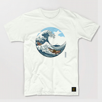 The Great Wave off Kanagawa T shirt (CMYK edition) men's T shirt