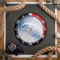 "SEIKO SKX Divers Watch ""Mod A"" - horology art print"