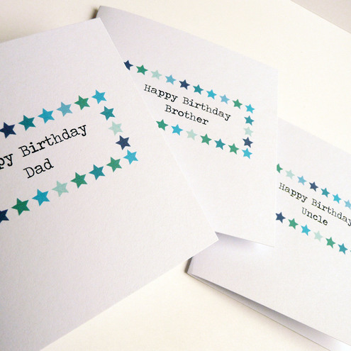 Blue Star Birthday Card - can be personalised!