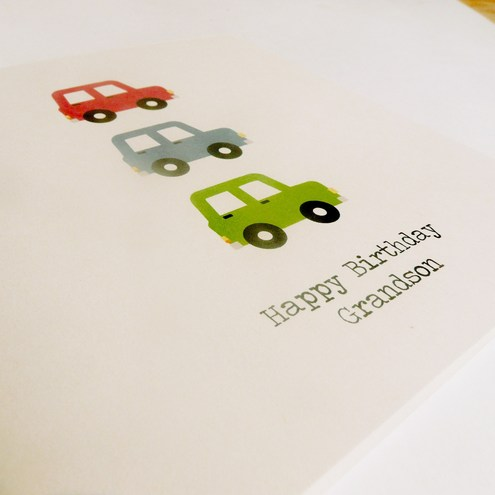 Happy Birthday Car Card - can be personalised