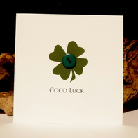 Good Luck Button Cards - clover