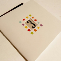 Numbered Birthday Cards - 1,2,3,4,5......