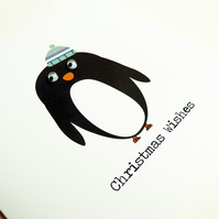 Penguin With Googly Eyes: Christmas Card Pack Of 6