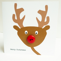 Rudolf Button Nose: Christmas Card Pack Of 3