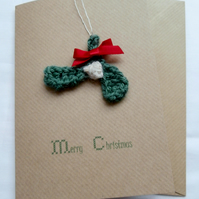 Mistletoe Decoration Christmas Card