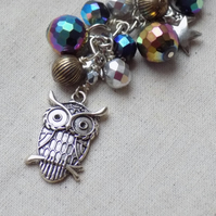 Owl Starry Night Bag Charm