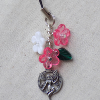 Fairy and  Flowers Mobile Phone Charm