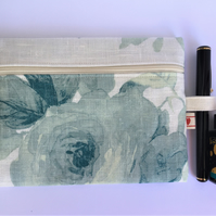 Linen Cosmetic Make up bag