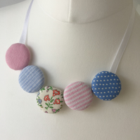 Candy Floss Textile statement necklace