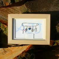Personalised Framed Christening Kilt Pin