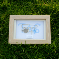 Personalised Framed Celebration Kilt Pin