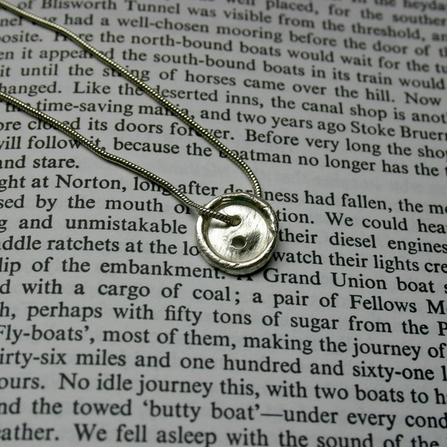 Fine Silver Button Necklace