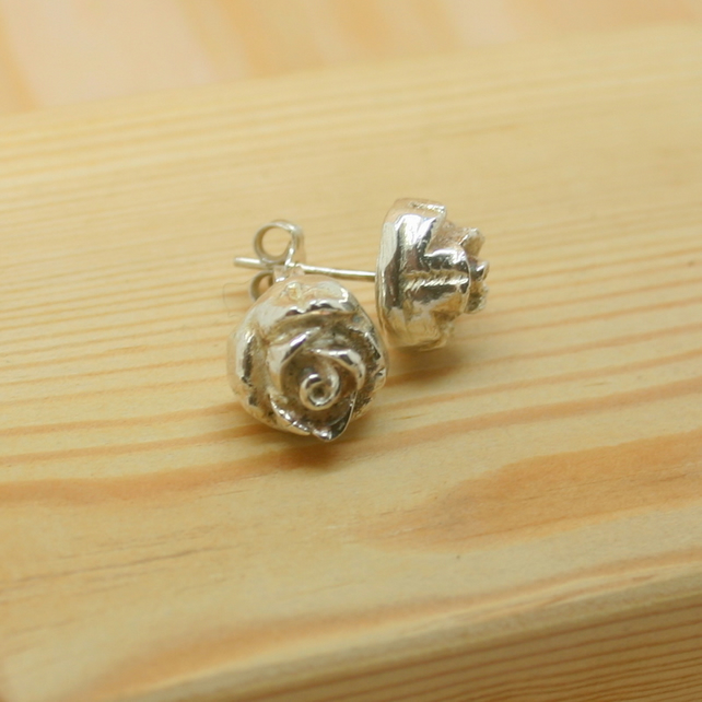 Fine Silver Flower earrings