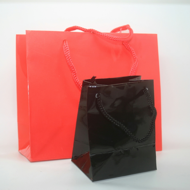 Gift Bags Red and Black