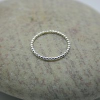 Sterling Silver ball ring size O half