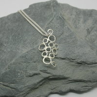 Sterling Silver textured bubbles necklace