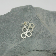 Sterling Silver textured bubble  stud earrings