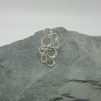Sterling Silver textured bubble ring