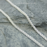 "Sterling silver spiga chain 20"", 22"" or 24"""
