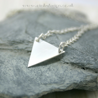 Minimalistic sterling silver triangle necklace