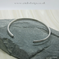 Small sterling silver open bangle