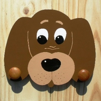 Childrens painted coat hook - Dog