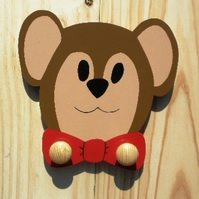 Childrens painted coat hook - Teddy