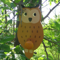 Childrens painted coat hook - Owl