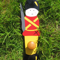 Childrens painted coat hook - Soldier