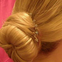 Swarovski crystal rondelle ball hair accessories