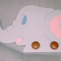 Childrens painted coat hook - Elephant