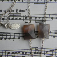 Triple banded agate necklace