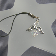 Swarovski Crystal Angel Phone Charm