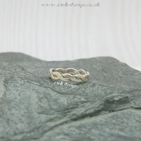 Sterling silver ring size K