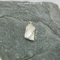 Fine Silver Turkey Wing Sea Shell Charm