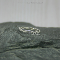 Sterling silver ring size T