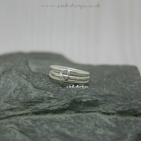 Sterling silver stacking style rings size G