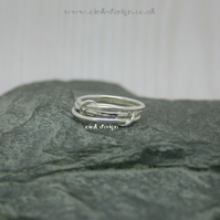 Sterling silver stacking style rings size N