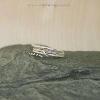 Sterling silver stacking style rings size M