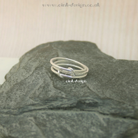 Sterling silver stacking style rings size R