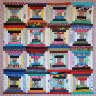 Patchwork Scrap Lap Quilt courthouse steps
