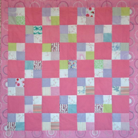 Patchwork Scrap Lap Quilt Checker board
