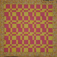 Patchwork Lap Quilt yellow& orange