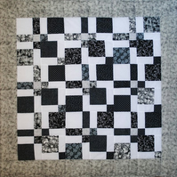 Patchwork Lap quilt Black and White