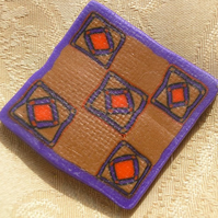 Patchwork  brooch