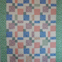 Single bed sized Patchwork quilt