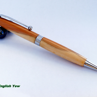 Streamline twist Pen dressed in English Yew