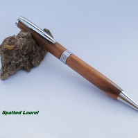Streamline twist Pen dressed in Spalted Laurel
