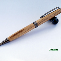Streamline twist Pen dressed in Zebrano